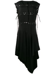 J.W.Anderson Asymmetric Lace Up Dress Women Polyurethane Triacetate Viscose 12 Black