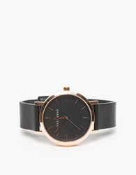The Horse Rose Gold Black Band Watch Rose Gold Black