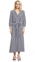 Mds Stripes Garden Dress Navy Stripe