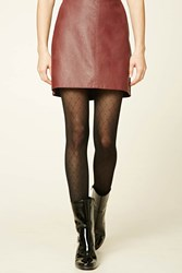 Forever 21 Heart Pattern Tights Black