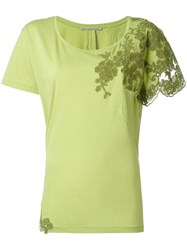 Ermanno Scervino Embroidered T Shirt Green