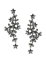 Dsquared2 Embellished Drop Earrings Black