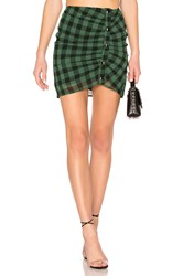 By The Way Alec Snap Up Skirt Green