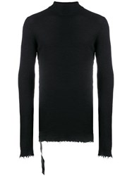 Unravel Project Turtleneck Sweatshirt Black
