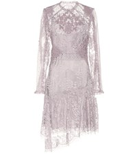 Zimmermann Stranded Applique Silk Lace Dress Purple