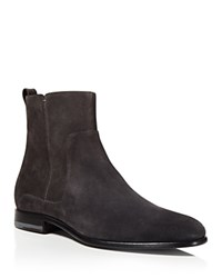 Vince Andes Dress Zip Boots Heather Carbon Grey Black