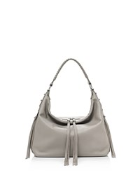 Botkier Samantha Leather Hobo Mineral Gray Silver