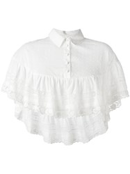 Red Valentino Embroidered Cropped Blouse White