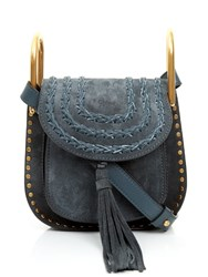 Chloe Hudson Mini Suede Cross Body Bag Blue