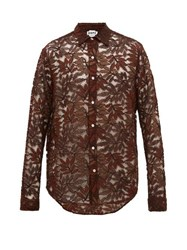 Hope Air Clean Guipure Lace Shirt Brown