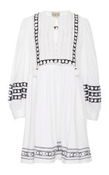 Sea Amelie Embroidered Day Dress White