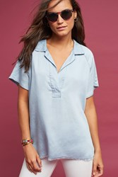 Anthropologie Edgewise Chambray Tunic Denim Light