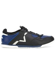 Diesel Fury Sneakers Men Calf Leather Polyester Rubber 40 Blue