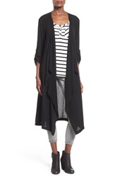 Junior Women's Sun And Shadow Woven Duster Black