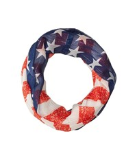 Collection Xiix Stars Stripes Loop Red White Blue Scarves Multi