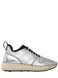 Tod's 30Mm Metallic Leather And Mesh Sneakers