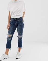 Glamorous Ripped Knee Jeans Blue