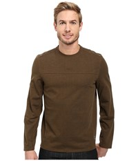 Royal Robbins Pigment Terry Long Sleeve Crew Desert Palm Men's Long Sleeve Pullover Beige