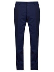 Alexander Mcqueen Slim Leg Tailored Trousers Blue