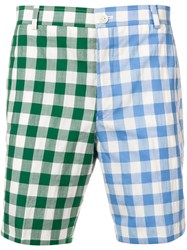 Thom Browne Large Gingham Fun Mix Short Blue