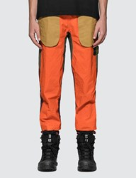 Stone Island Tela Placcata Bicolore Pants Orange