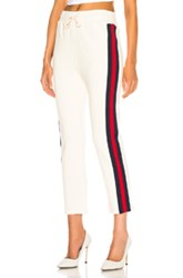 Mother Slim Gym Sweatpant In White