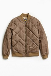 Eddie Bauer X Uo Skyliner Quilted Bomber Jacket Brown