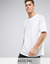 Asos Tall Oversized T Shirt With Baseball Styling In White White