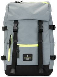 Makavelic Jade Double Buckle Evolution Backpack Grey