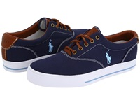 Polo Ralph Lauren Vaughn Canvas Leather Navy Men's Lace Up Casual Shoes