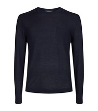Polo Ralph Lauren Cashmere Long Sleeve T Shirt Male Navy