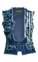 Bekh Atelier Joe Distressed Denim Vest Blue