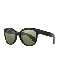 Oliver Peoples Abrie Plastic Polarized Cat Eye Sunglasses Black