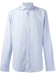 Hackett Checked Button Down Shirt Blue