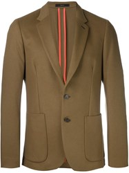 Paul Smith Peaked Lapel Formal Blazer Brown