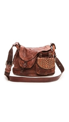 Campomaggi Washed Leather Shoulder Bag Cognac