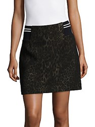 Sandro Printed Cotton Blend Skirt Leopard