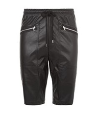 Markus Lupfer Faux Leather Shorts Black