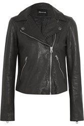 Madewell Textured Leather Biker Jacket Black