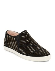 Aerin Marina Suede Slip On Sneakers Black