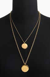 J.Crew Layered Coin Necklace Gold