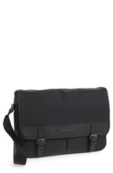 Burberry 'Fairbank' London Leather And Nylon Messenger Bag Black