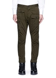 Dsquared Cotton Cargo Pants Green
