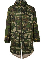Lc23 Camouflage Print Parka Men Polyester Xs Green
