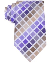 Geoffrey Beene Men's Tone Geometric Tie Purple
