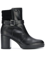 Geox Buckled Ankle Boots Black