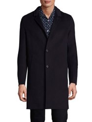 The Kooples Double Sided Wool Coat Navy
