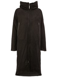 Isaac Sellam Experience Zipped Hooded Coat Black