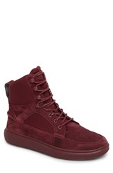 Creative Recreation Men's Desimo Sneaker Dark Burgundy Leather