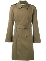 J.W.Anderson Classic Trench Coat Green